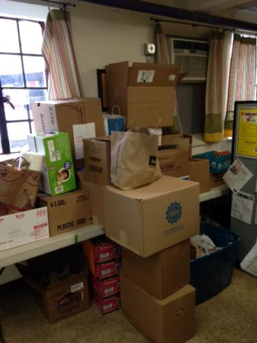 St-Cyprians-Food-Donations-Piling-Up